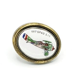 Vintage Airplane Tie Clip Spad 13 Military WW1
